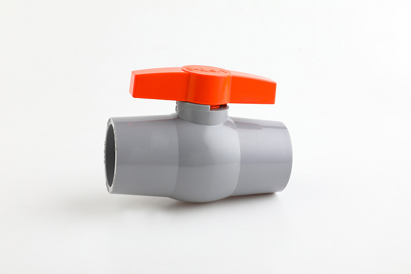 ultrasonic pvc ball valve with butterfly handle