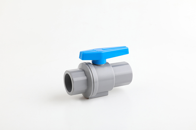 two piece pvc ball valve with plastic handle